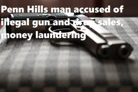 Penn Hills man accused of illegal gun and drug sales, money laundering