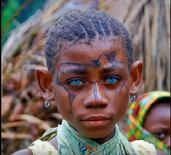 melanesians blue eyed black people dna unknown