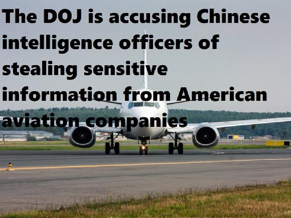The DOJ is accusing Chinese intelligence officers